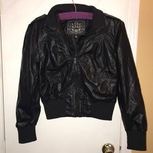 Leather black jacket last kiss